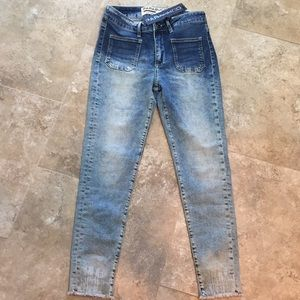Parasuco High Rise Skinny Jeans Frayed Ankle NWT